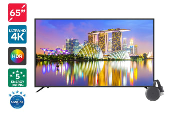 "Kogan 65"" 4K HDR LED TV (Series 8 KU8100) + Chromecast 3"
