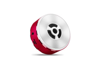 Bluetooth Speaker Metal Wireless Mini Portable Bluetooth Speaker Red
