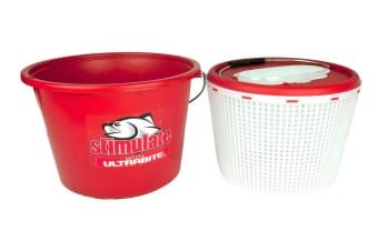 Stimulate 2 in 1 Extra Large 15L Burley Bucket Live Bait Bucket-Removable Inner Bucket