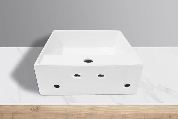 White High Gloss Ceramic Bathroom Sink Basin Above Counter Top Wall Hung (CBS007)