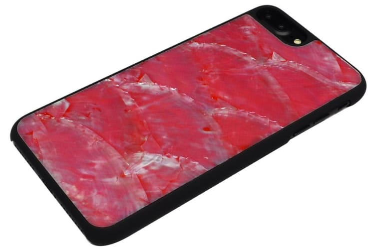 For iPhone 8 PLUS 7 PLUS Case Elegant Seashell Durable Protective Cover Red