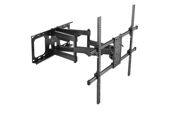 """BRATECK Full-motion TV Wall Mount   for 50-90"""" Curved and Flat TVs. Max VESA 800x600. Tilt 5  -15"""