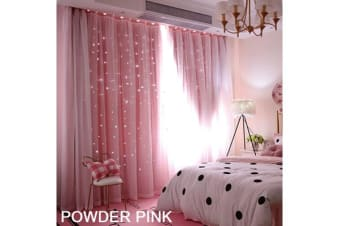 Star Blockout Curtain in PINK 180X213CM