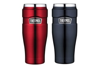 2pc Thermos 470ml Vacuum Insulated Stainless Steel King Tumbler Midnight Blue RD