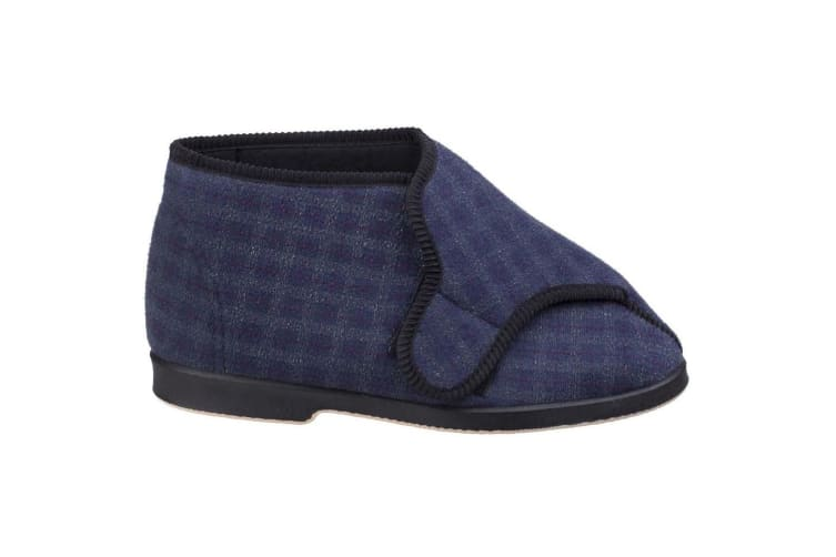 GBS Keswick Touch Fastening Bootee / Mens Slippers / Mens Bootee (Blue) (8 UK)