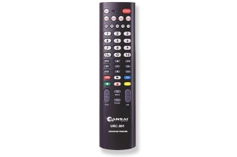 Sansai 5in1 Universal TV Remote Replacement for Television/VCR/SAT/CBL/DVD Black