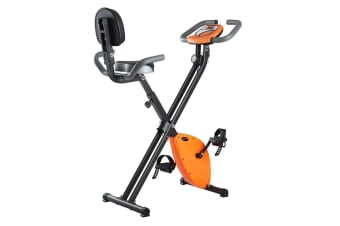 Genki Foldable 8 Magnetic Levels Home Exercise Bike With Back Rest
