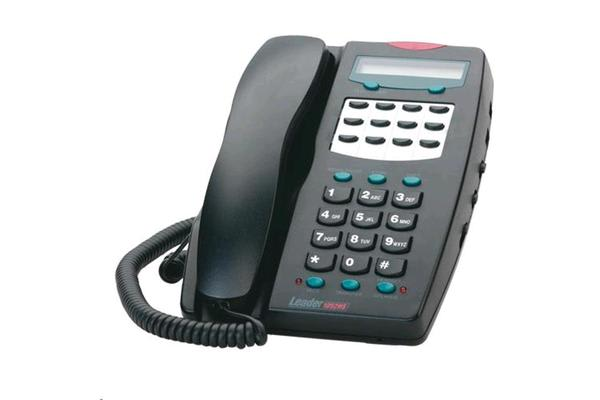 Leader Analogue Telephone with LCD - Black