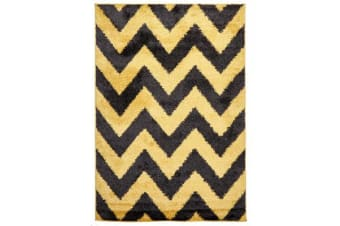 Ziggy Shag Rug Yellow Charcoal 290x200cm