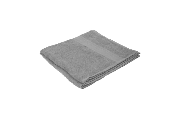 Jassz Plain Bath Towel 70cm x 140cm (350 GSM) (Grey) (One Size)