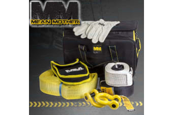 MEAN MOTHER WINCH 4x4 RECOVERY KIT SNATCH STRAP SHACKLES 4WD RESCUE 11 TONNE