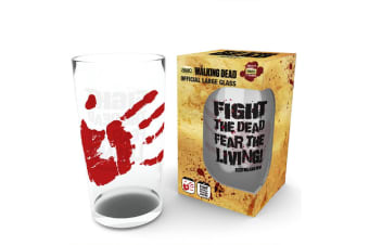 The Walking Dead Official Large Glass (Clear)