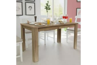 vidaXL Dining Table 140x80x75 cm Oak