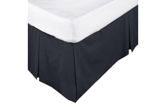 ASSUN Box Pleated Valance Black DOUBLE