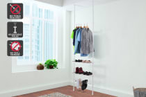 Ovela Telescopic Clothes Hanger Shelf & Shoe Holder