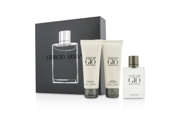 Giorgio Armani Acqua Di Gio Coffret: Eau De Toilette Spray 50ml/1.7oz + All Over Body Shampoo 75ml/2.5oz + After Shave Balm 75ml/2.5oz (3pcs)
