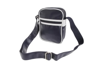 Bagbase Original Retro Shoulder Strap Cross Body Bag (French Navy/White) (One Size)