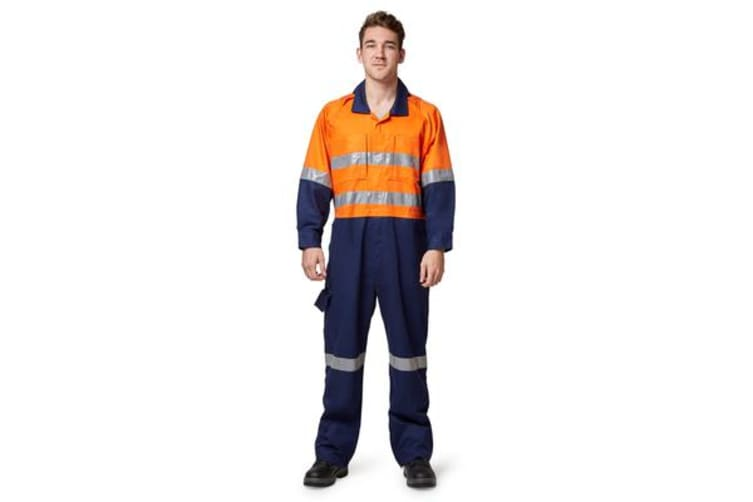 King Gee Workcool 2 Reflective Spliced Combination Overall (Orange, Size 102S)