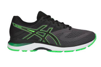 ASICS Men's GEL-Pulse 10 Running Shoe (Dark Grey/Green Gecko, Size 10.5)