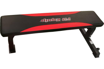 Deluxe Flat Bench Solid Red