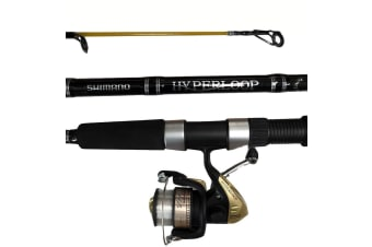 Shimano Hyperloop Fishing Rod and Reel Combo - 2 Piece Spin Combo [Length/Rating/Reel Size: 6ft/2-4kg/2500 Reel]