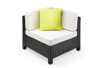 LONDON RATTAN 1pc Sofa Outdoor Furniture Setting -Corner Garden Lounge Chair