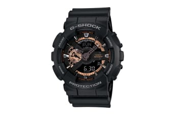 Casio G-Shock X-Large Ana-Digital Watch - Black/Rose Gold (GA110RG-1A)