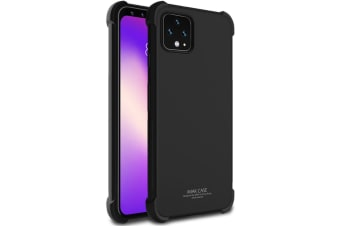For Google Pixel 4 XL IMAK All-inclusive Shockproof Airbag TPU Case  Metallic Black