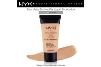 Nyx Stay Matte Not Flat Liquid Foundation #Smf09 Tan Medium Skin Golden Tone