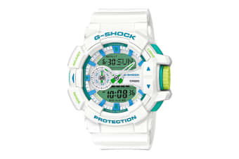 Casio G-Shock Ana-Digital Watch - White/Green (GA400WG-7A)