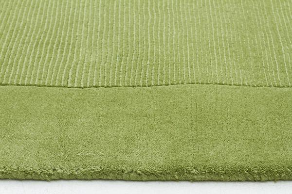 Cut and Loop Pile Rug Green 280x190cm