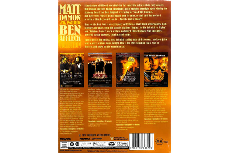 MATT DAMON AND BEN AFFLECK COLLECTION - Region 4 Rare- Aus Stock Preowned DVD: DISC LIKE NEW