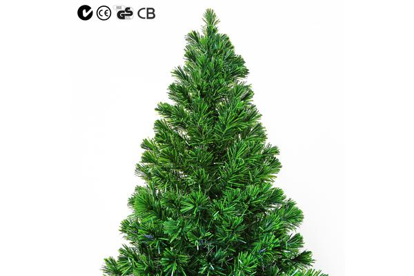 7Ft 210cm Green Xmas Tree - BAUBLES