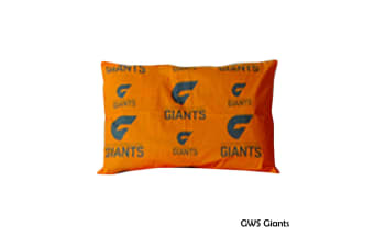 AFL Licensed Standard Pillowcase GWS Giants