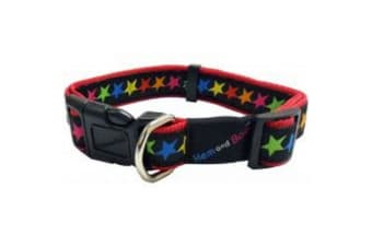 Hemm & Boo Multicoloured Stars Dog Collar - Large (May Vary)