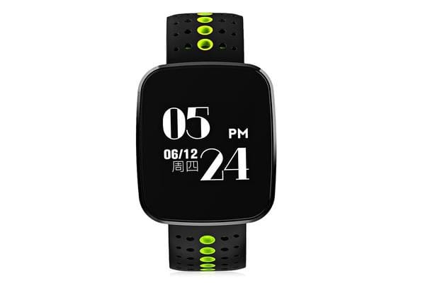 "Bluetooth V4.0 Smart Watch Heart Rate Blood Pressure Ip67 0.96"" Oled - Green"