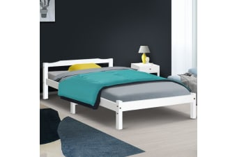 King Single Size Wooden Bed Frame Mattress Base Timber Platform