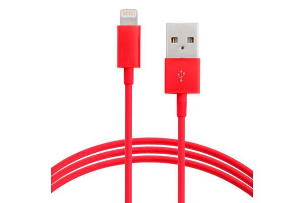 Astrotek 5m USB Lightning Data Sync Charger Red Color Cable for iPhone 6S 6 Plus 5 5S iPad Air Mini iPod