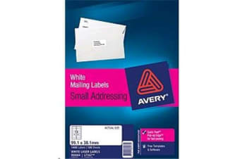AVERY L7163-100 Addressing Labels Pop Up Quick Peel - 99.1x38.1mm - 100 Sheets