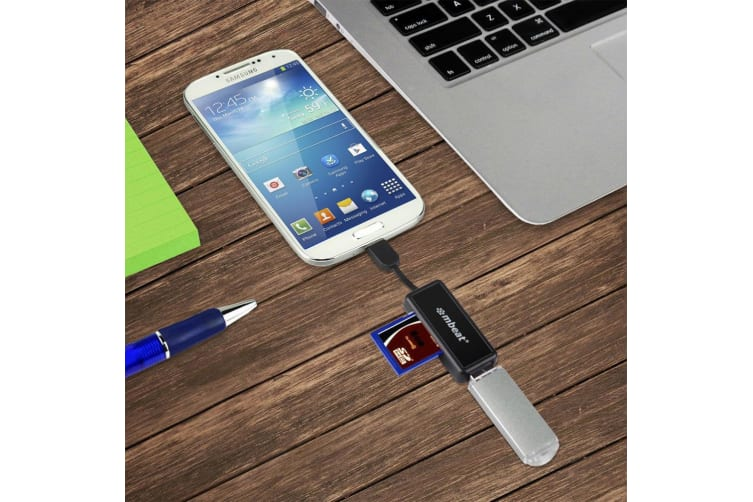 Micro USB Card Reader and Hub for Android Smartphones/Tablet Samsung/Sony/HTC