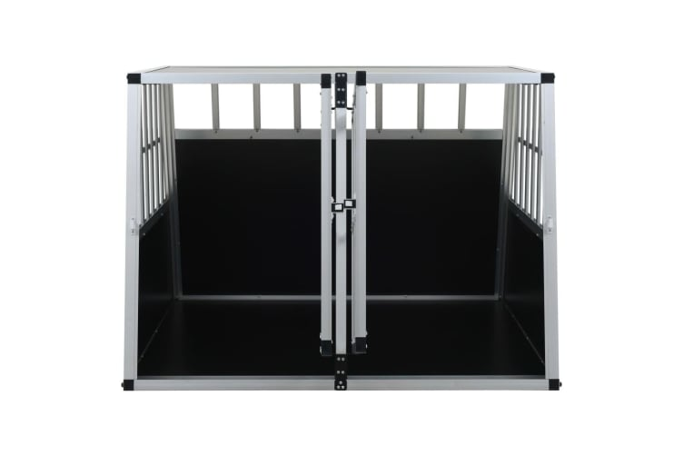 vidaXL Dog Cage with Double Door 94x88x69 cm
