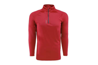 Reebok Men's Play Dry 1/4 Zip Jacket (Red, Size M)