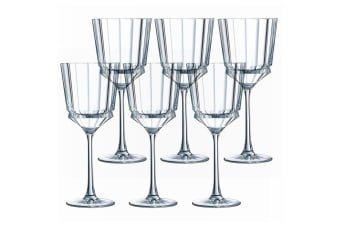 6PK Cristal D'Arques Macassar 250ml Red White Wine Glass Glasses Bar Tableware