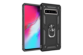 For Samsung Galaxy S10 5G Case Armour Shockproof Cover 360 Rotation Holder Black