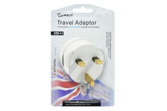 Sansai Travel Adapter - UK, Asia, Middle East & Africa (STV-11)