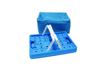 32 Litre Collapsible Insulated Storage Basket (Blue) (One Size)