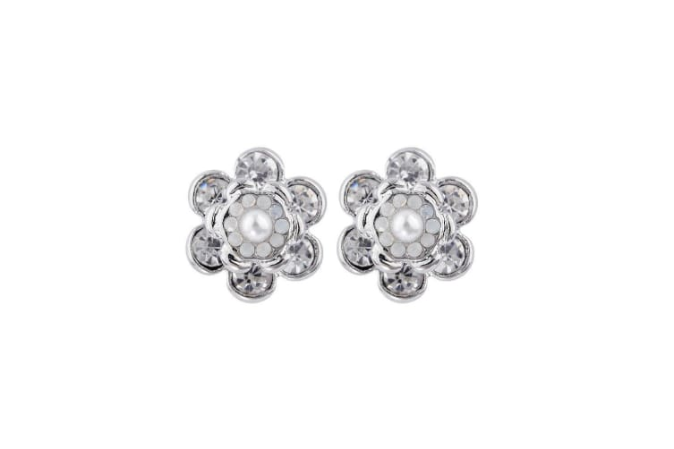 Intrigue Womens/Ladies Blossom Stud Earring (Silver) (One Size)