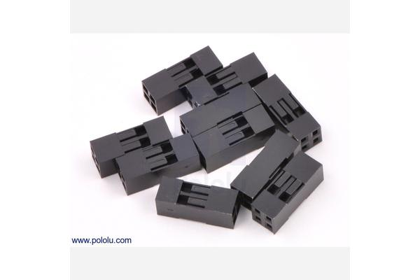 """0.1"""" (2.54mm) Crimp Connector Housing: 2x2-Pin 10-Pack"""