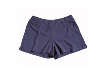 Bella + Canvas Womens/Ladies Cotton Spandex Fitness Shorts (Navy) (XL)
