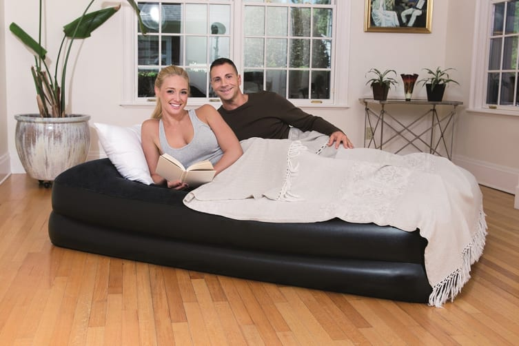 Queen Premium Comfort Inflatable Mattress with Built-in Pump and Storage Bag